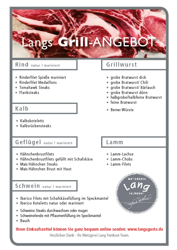 Grill Angebot